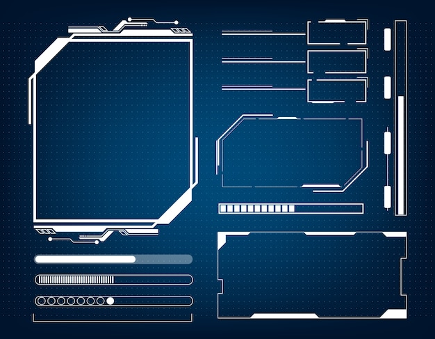 Abstract  technology futuristic interface hud concept Premium Vector