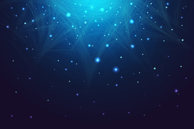 Abstract technology particle background Free Vector