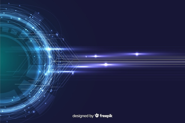 Abstract technology particle wallpaper Free Vector