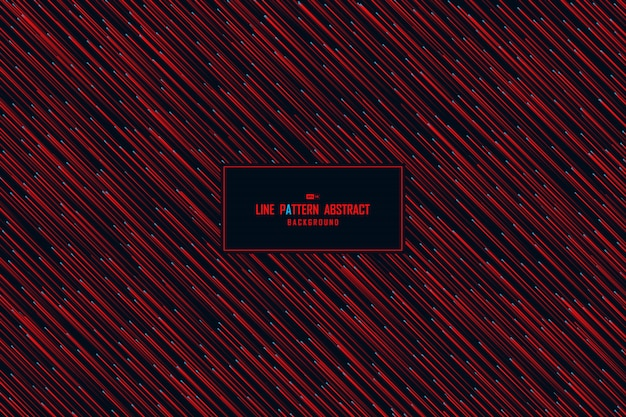 Abstract technology red design pattern artwork background. Premium Vector