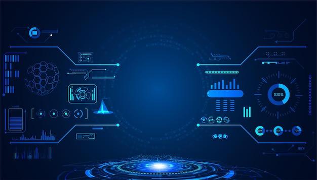 抽象技術ui未来的な概念hudインターフェイスホログラム要素 Premiumベクター
