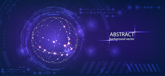 Abstract technology vector background.for business, science, technology design. Premium Vector