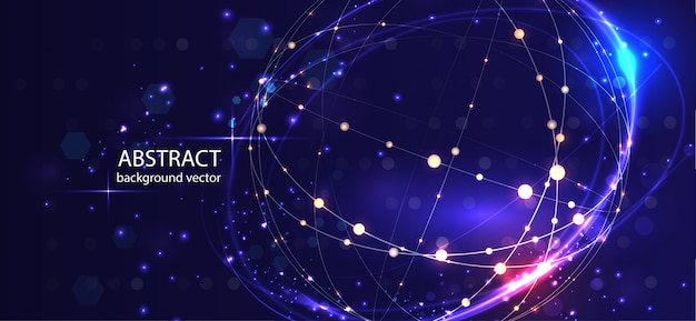 Abstract technology vector background. for business, science, technology design. Premium Vector