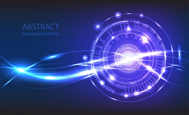 Abstract technology vector background Premium Vector