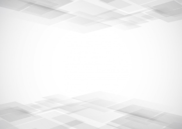 Abstract technology white and gray color modern background Premium Vector