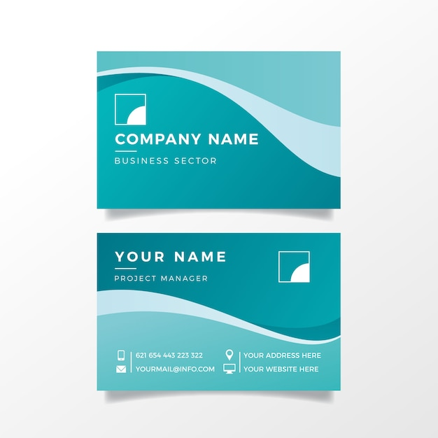 Abstract template business card collection Free Vector