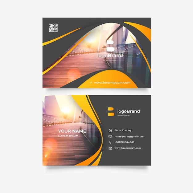 Abstract template for business card Free Vector
