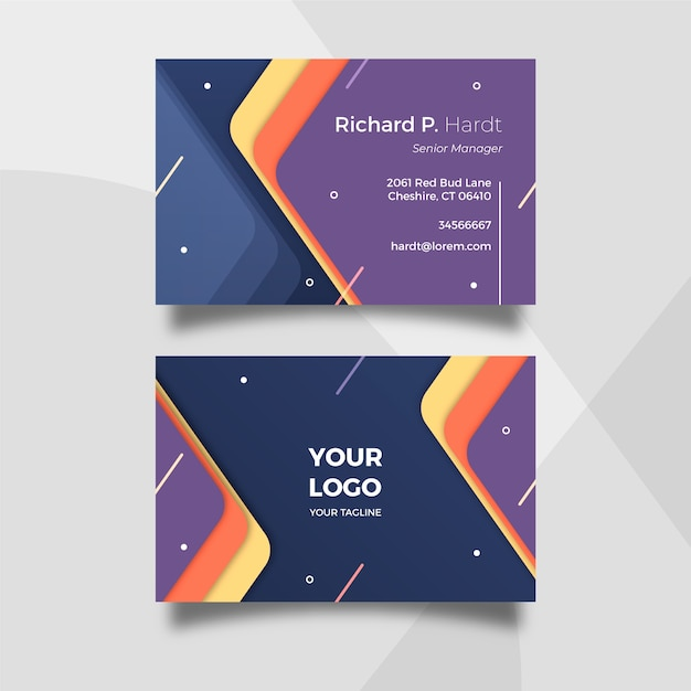 Abstract template business card Free Vector