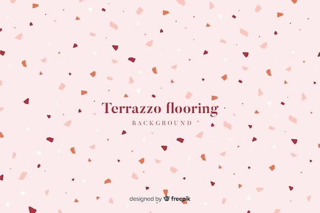 Abstract terrazzo texture flooring background Free Vector
