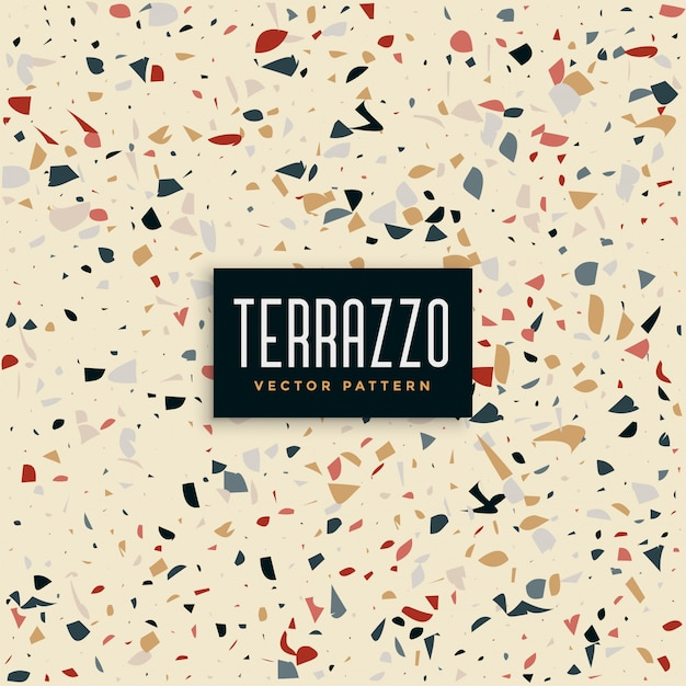 Abstract terrazzo tiles pattern background Free Vector