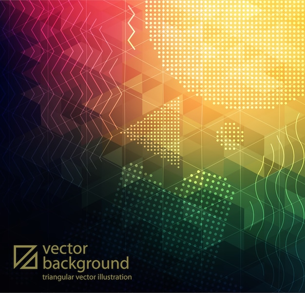 Abstract textured polygonal background Premium Vector
