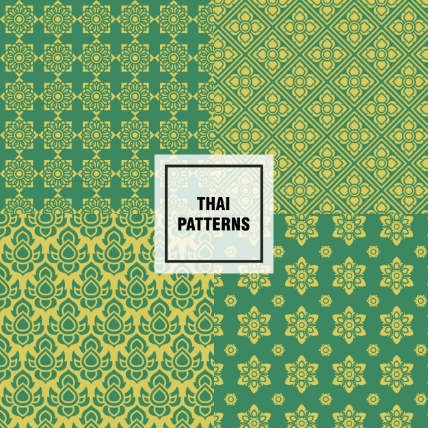 Abstract thai patterns design Vector | Free Download