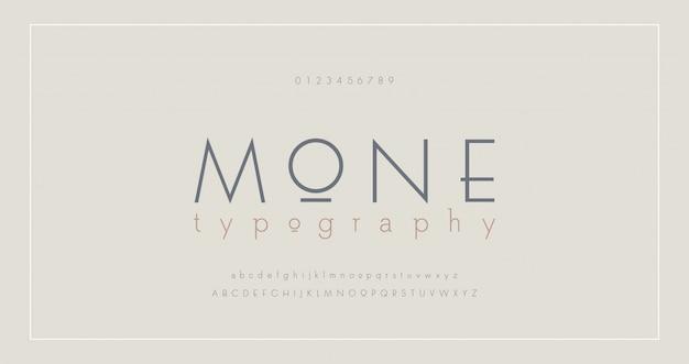 Abstract thin line font alphabet Premium Vector