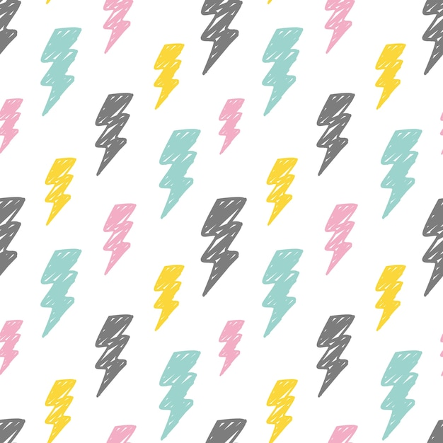 Abstract thunder background Premium Vector