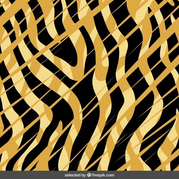 abstract tiger print background vector free download