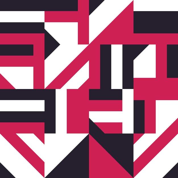 Abstract tile seamless pattern. ceramic mosaic vector illustration. abstract geometric shape decorat