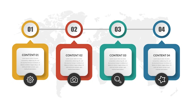 Abstract timeline infographic element  business project Premium Vector