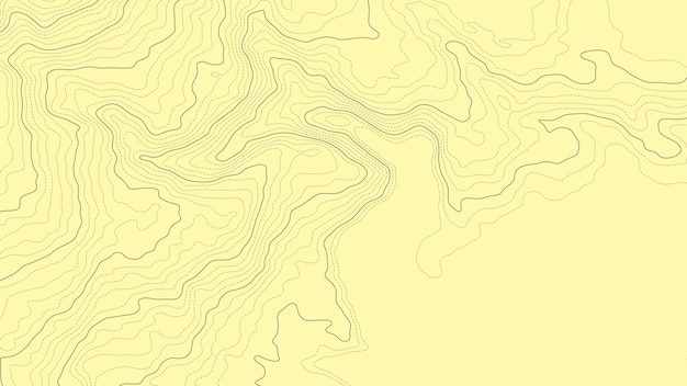Abstract topographic contour map elevation line Vector