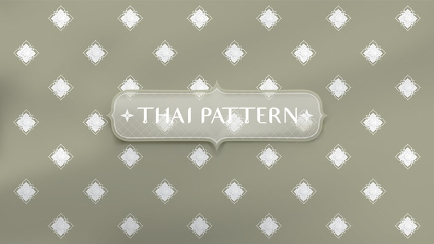 Abstract traditional thai pattern background. Premium Vector