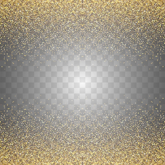 Abstract transparent golden glitters background Free Vector