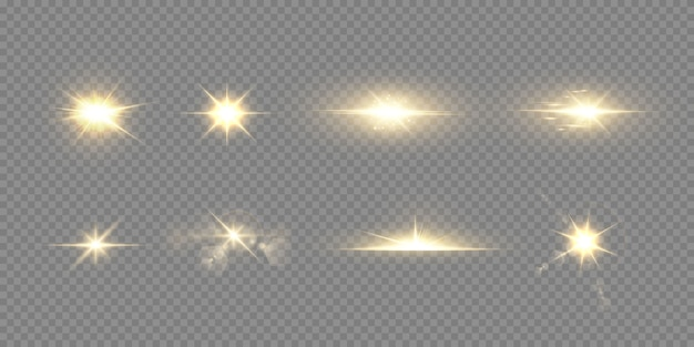 Абстрактный прозрачный солнечный свет специальные линзы бликов световой эффект. Premium векторы