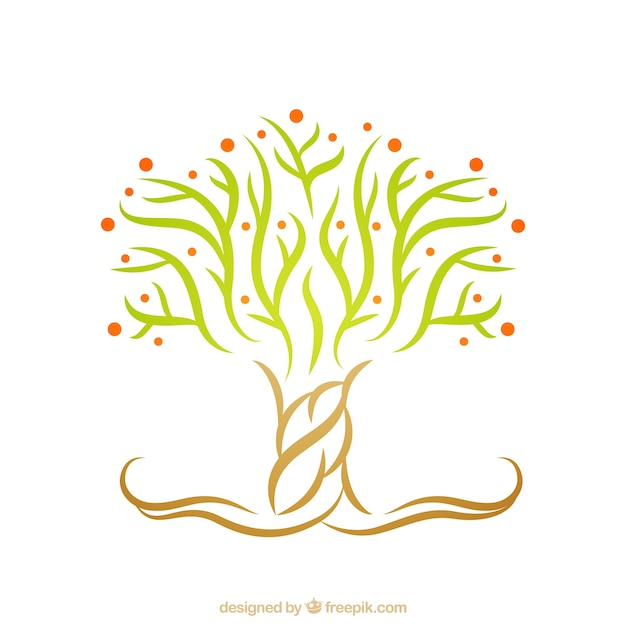 Abstract tree logo Vector | Free Download