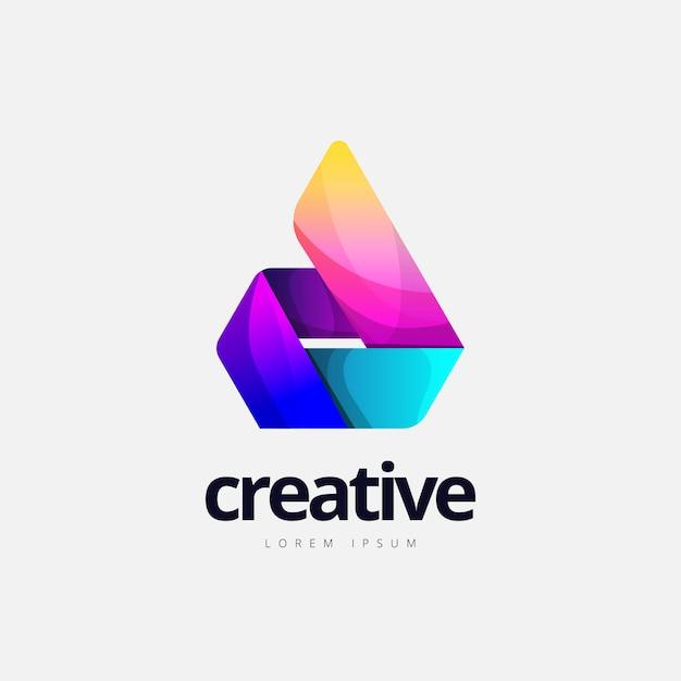 Abstract trendy fire shape logo Premium Vector