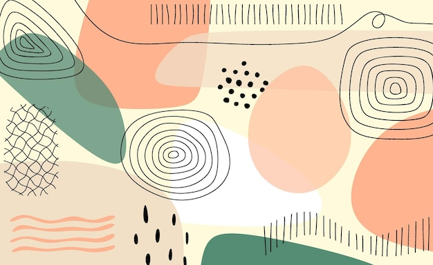 Abstract trendy universal artistic background template. Premium Vector