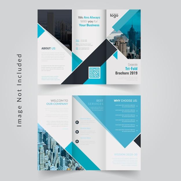 Abstract tri fold brochure Premium Vector