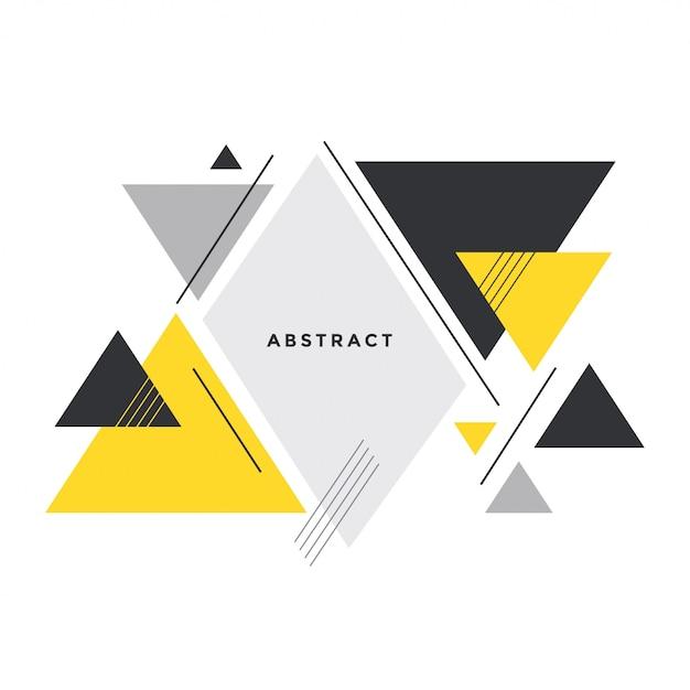 メンフィススタイルの抽象的な三角形の背景 無料ベクター