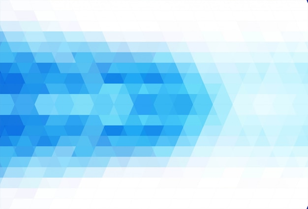 Abstract triangle blue background vector Free Vector