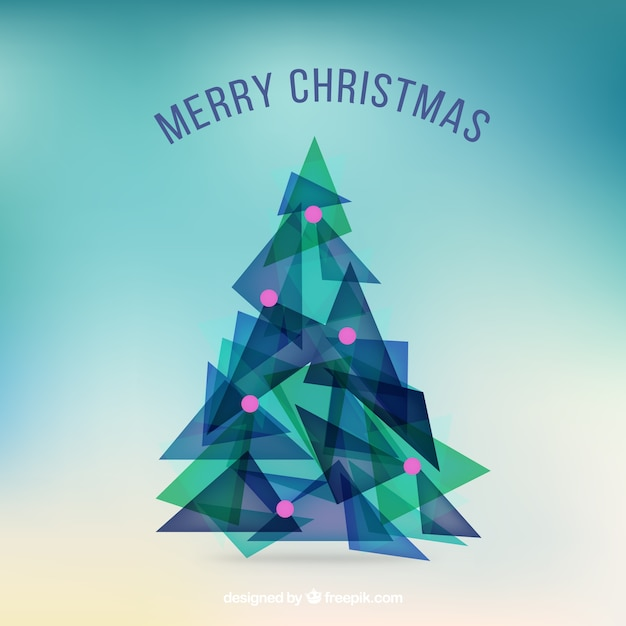 Abstract triangle Christmas tree Vector | Free Download