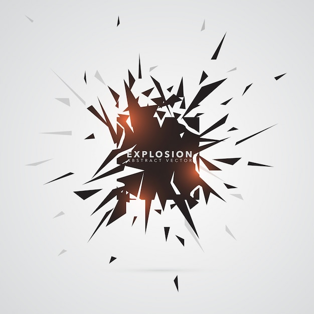 Abstract Triangle Explosion Banner Template Vector | Premium Download