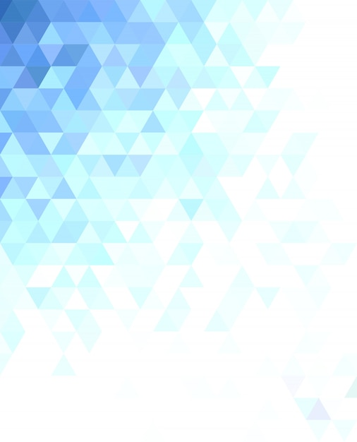 Abstract triangle mosaic background design Free Vector