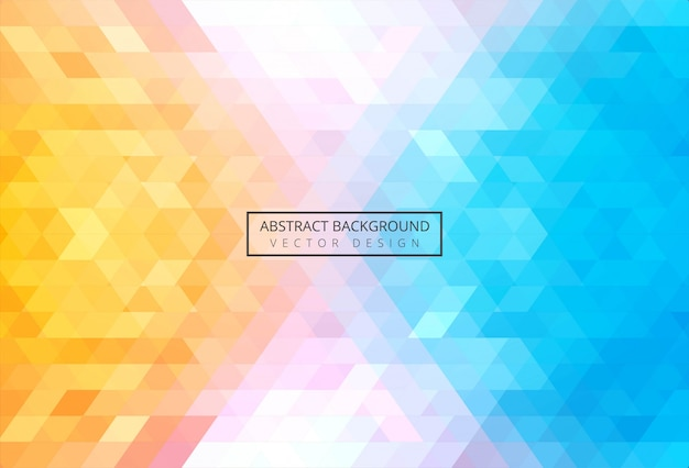 Abstract triangle pattern colorful Free Vector