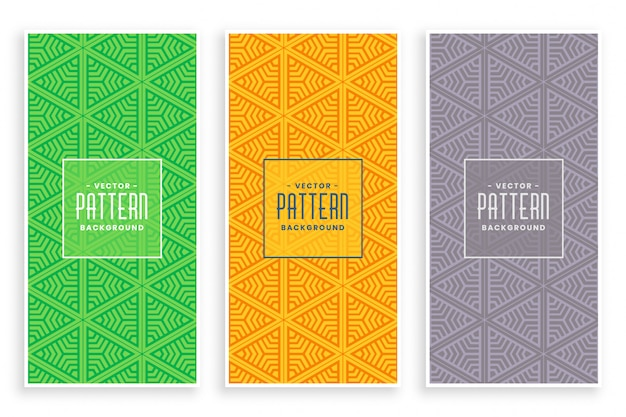 Abstract triangle pattern decoration set Free Vector