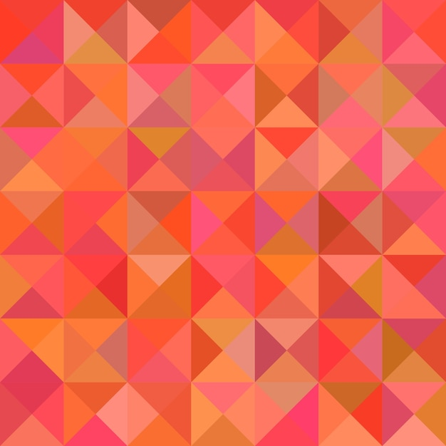 Abstract triangle pyramid pattern background - mosaic vector illustration from triangles in colorful tones
