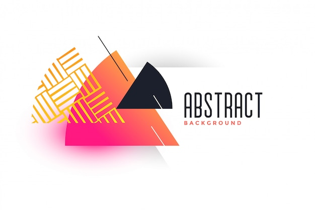 Abstract triangle vibrant banner template Free Vector