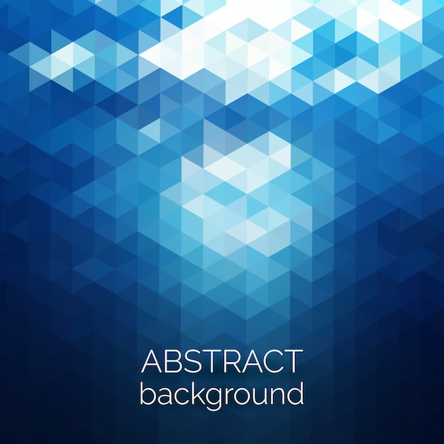 Абстрактный фон модель треугольников. голубая вода геометрических фон. Premium векторы
