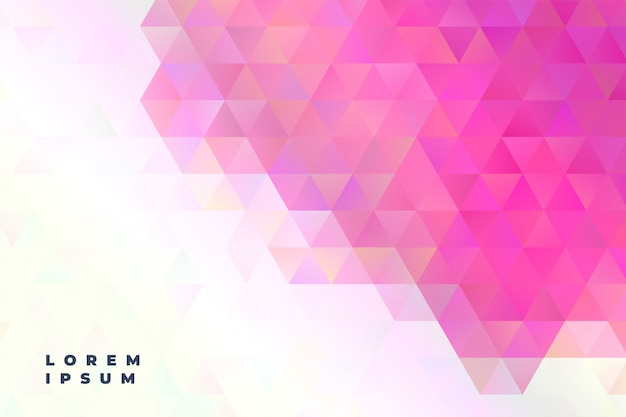 Abstract triangles presentation banner Free Vector