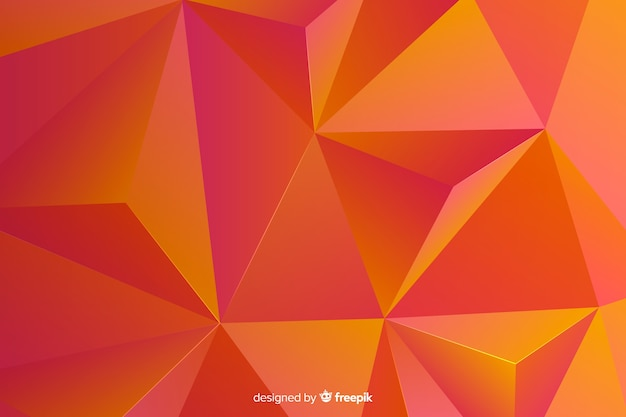 Abstract tridimensional geometric shape background Free Vector