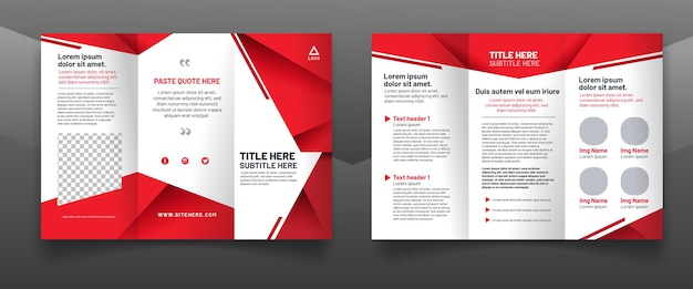 Abstract trifold brochure concept Free Vector
