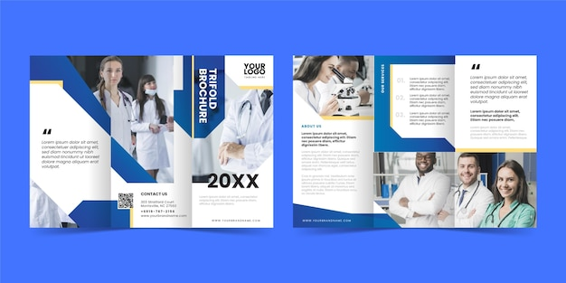 Abstract trifold brochure template concept Free Vector