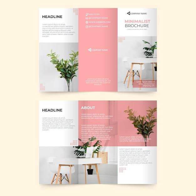 Абстрактный шаблон брошюры с фотографией Бесплатные векторы