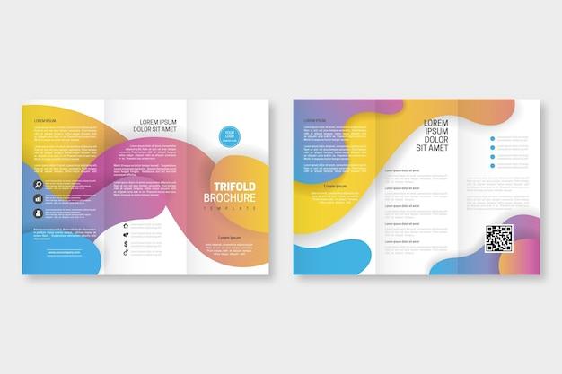 Абстрактный шаблон брошюры Premium векторы