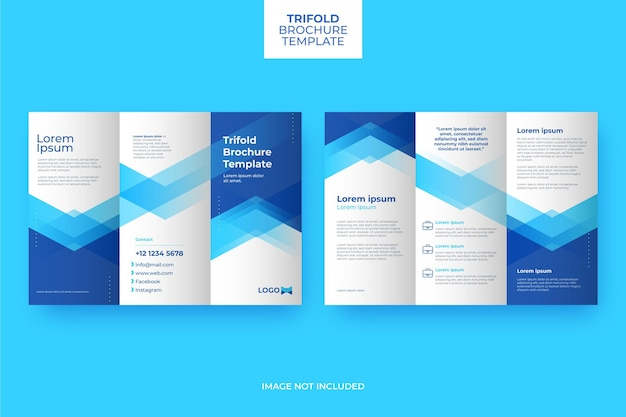 Abstract trifold brochure template Premium Vector