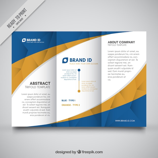abstract trifold template vector free download