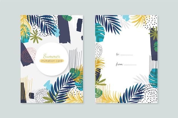 抽象的な熱帯カードコンセプト 無料ベクター