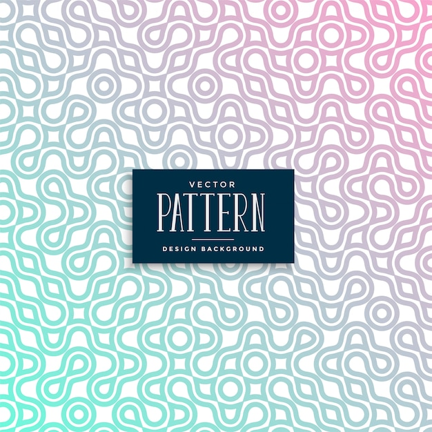 Abstract truchet colorful seamless pattern design Free Vector