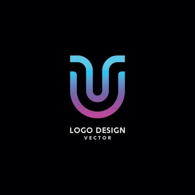 Abstract u letter logo design vector Premium Vector
